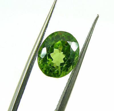3.05 Ct Natural Oval Loose Green Peridot Gemstone Stone - 7341