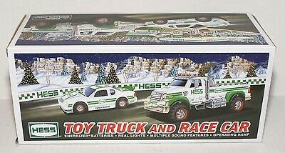 2011 HESS COLLECTIBLE TOY TRUCK and RACE CAR with Sound, NASCAR, NEW