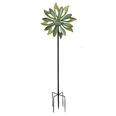 Kinetic Wind Sculpture Spinner Metal Garden Outdoor Pinwheel Windmill 174cm