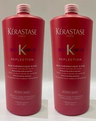 Chromatique : 2 X Bain Chromatique Riche 1000ML Kerastase + Free Pump