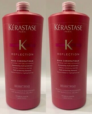 Chromatique : 2 X Bain 1000ML Kerastase + Free Pump