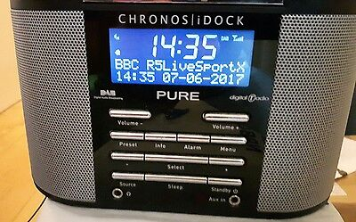 Pure Chronos Idock   Fm/dab  Comes With Power Supply, Remote And Instructions
