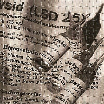 Lysergic Acid #25 Blotter Art Psychedelic Perforated Lsd Free Hofmann 900 Tabs