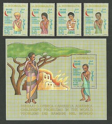 Somalia 1993 Childrens Rights Medical Red Cresent Set & M/sheet Mnh