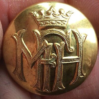 Large Lord Milton's  Gilt Fox Hunting Button  Ireland 1 Inch Across