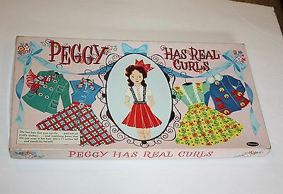 Vintage Paper Doll Whitman Peggy Has Real Curls 1950's Boxed Set OVer 50 pcs