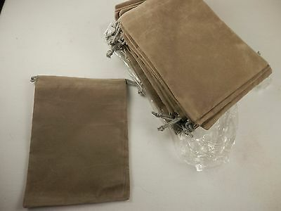 Lot of 19 Grey Velour 4x5 Drawstring Jewelry Gift Bag Pouch