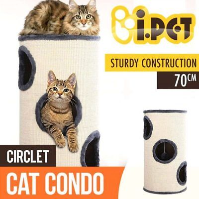 Cat Scratching Post Gym Tower Tree Scratcher Condo House Furniture Barrel 70CM