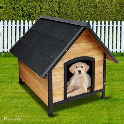 Large Pet Dog Kennel Weather Resistant Timber Wooden Outdoor Puppy Shelter House