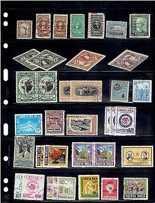COSTA RICA, USED & MNH STAMPS PLUS CUT SQUARES, 1890's