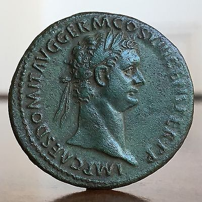 Domitian, 81-96AD. Dupondius Coin. 29mm. Strong And Striking Portrait.