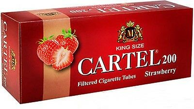 Cartel 200 Filter Strawberry Cigarette Tubes