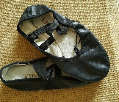 Black Bloch ballet shoes size 4 well worn