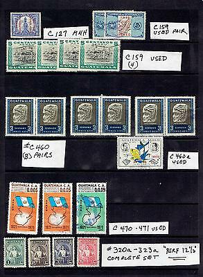 GUATEMALA AIRMAILS & A COMPLETE SET OF 320a-323a