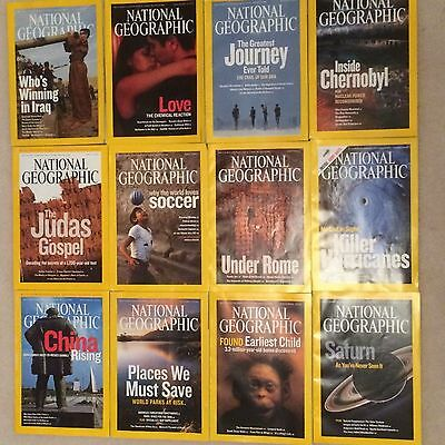 12 x National Geographic Magazine 2006 ....January to December 12 Issues