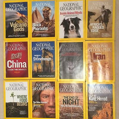 12 x National Geographic Magazine 2008 ....January to December 12 Issues