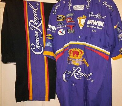 Roush Fenway Crown Royal Sprint Cup Series pit crew shirt/trousers combo
