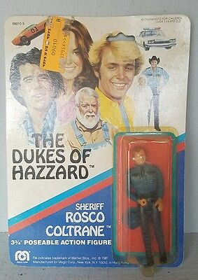 Dukes of Hazzard Deputy Sheriff Rosco Coltrane 3 3/4 Inch Action Figure MOC mint