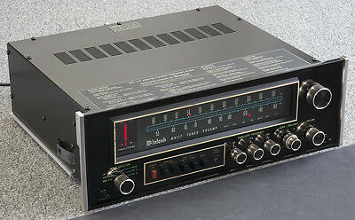 McINTOSH MX-117 AM/FM Stereo Tuner Preamplifier w/ 2 Phono Inputs+Owners Manual