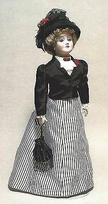 "17""antique French Fashion/gibson Girl Lady Kestner Doll Dress&jacket&hat Pattern"