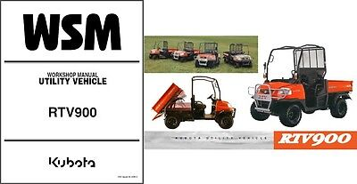 Kubota RTV900 UTV WSM Service Manual on a CD   -   RTV 900