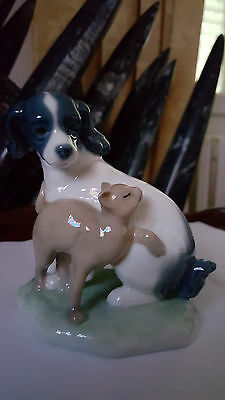 Figurine Chien Chat Signee Nao/lladro