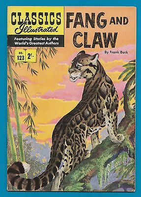 Classics Illustrated Comic #123 Fang & Claw by Frank Buck  #808