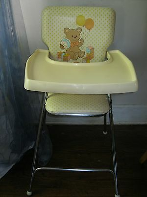 Vintage 1980's Graco Baby High Chair Folding Good Used Condition Clean.