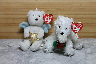 Ty Beanie Babies Jingle figures - Star AND Presents - Mint Christmas Decoration