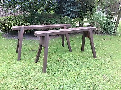 SAW HORSE, TRESTLES X 2  Wooden Strong And Traditional