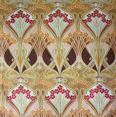vintage Liberty Ianthe Art Nouveau print cotton interiors fabric
