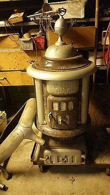 Antique Coal Stove C & S Oak 219
