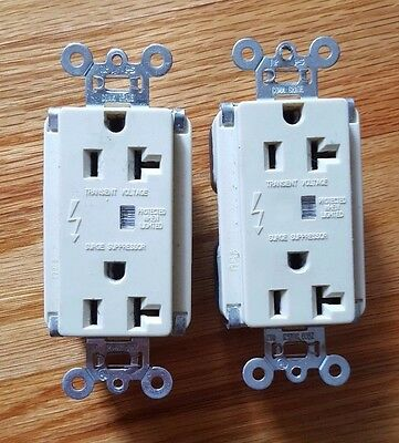 Lot Of 2 Pass & Seymour 5352-Isp Tvss Receptacle 20A Commercial Grade