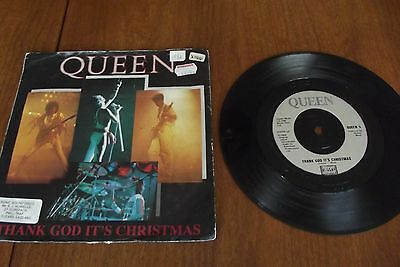 1980's 45RPM 7 inch Vinyl Single Record QUEEN Thank God it's Christmas