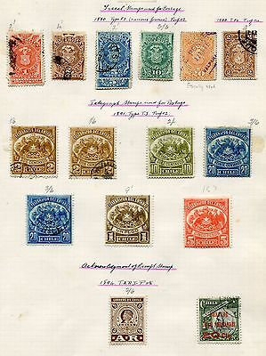 CHILE -  Small collection Telegraph on old albumpage