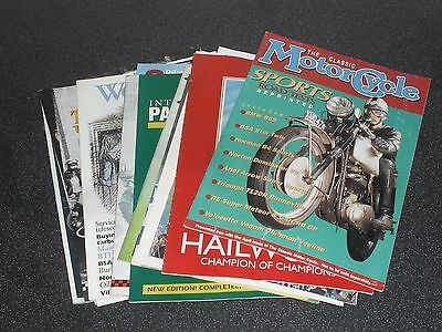 Old Classic Bike Magazine Supplements job lot The Classic Motor Cycle