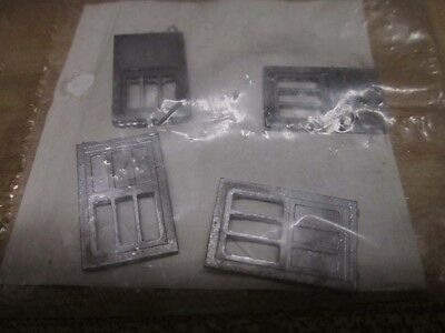 HO Scale Parts: Four Die Cast Metal Combine Passenger Car Doors by Walthers