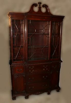 Antique Mahogany Chippendale Breakfront