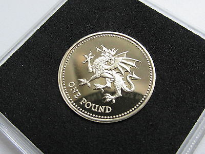 1995 PROOF UK £1 Coin. Welsh Dragon MINT/CASED.Genuine proof coin!