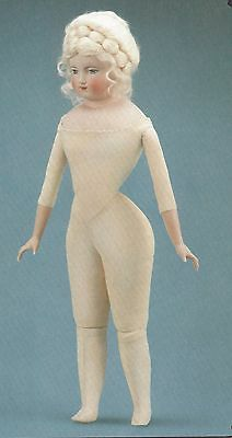 "20&24&28""antique French Fashion Doll Cloth/leather Jointed/gusset Body Pattern"