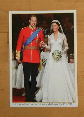 Prince William and Catherine Middleton Wedding Photo. Dated April 29th 2011.