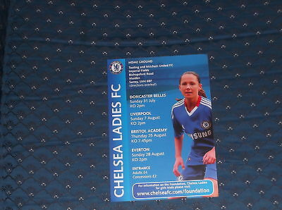 Chelsea Ladies 2011 Game Flyer (v Donc,Liver,Bristol and Everton)