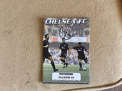 Chelsea Reserves v Fulham Reserves 2004-05 POSTPONED Programme
