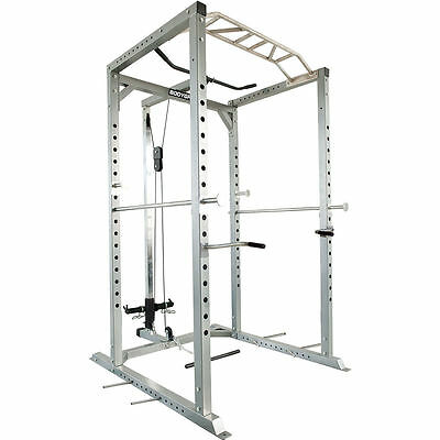 Olympic Power Rack / Cage Lat Pulldown - Squat - Heavy duty - 450KG weight limit