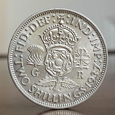 George VI Florin, Two Shillings, 1937.