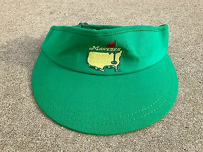 2017 Augusta National Masters Official EMBROIDERED GREEN Tour VISOR