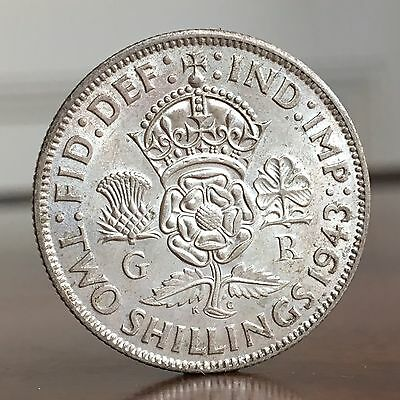 George VI Florin, Two Shillings, 1943.