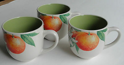 Arthur Wood Fruit Grove Cups / Mugs X 3 •●•●