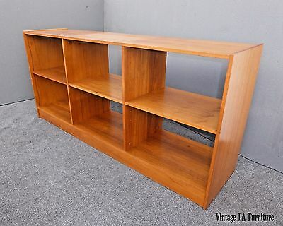 Vintage Danish Modern BOOKCASE w Six Shelves Made in Denmark