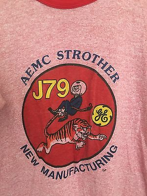 Vintage Red GE T-Shirt AEMC Strother New Manufacturing Tiger Short Sleeve XL